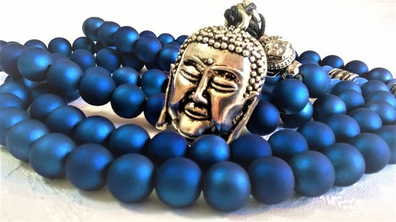 Japamala 108 Resina Emborrachada Azul Bodhi Desc Namorados
