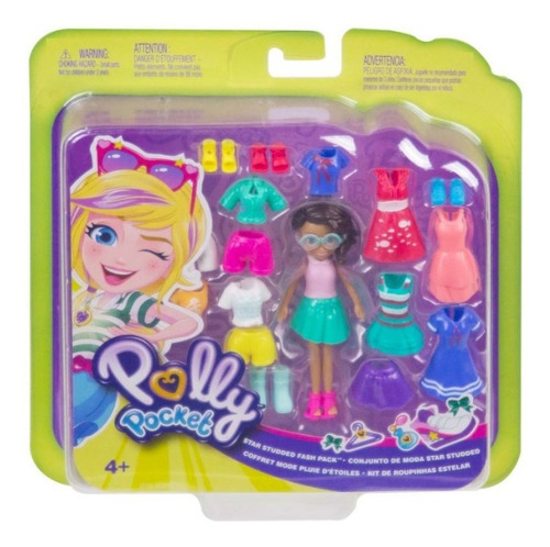 Imagen 1 de 6 de Muneca 20cm Polly Pocket Mattel Gft97 Coleccion De Modas