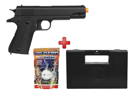 Pistola Airsoft Spring M292 Colt 1911 + Kit Case