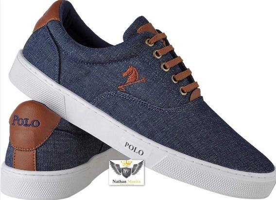 Tenis Sapatenis Polo Bra Masculino Sapato Casual Pe Grande