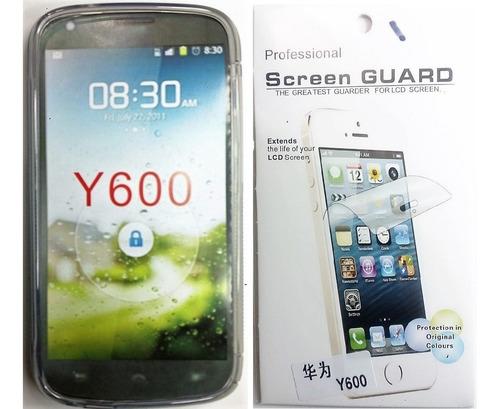 Huawei Y600 Forro Tpu + Lamina Protectora Y600