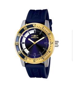 Relógio Invicta Masculino 12847 Pulseira De Borracha Azul