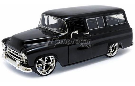 Miniatura Chevy Suburban 1957 Preto Jada Toys 1/24