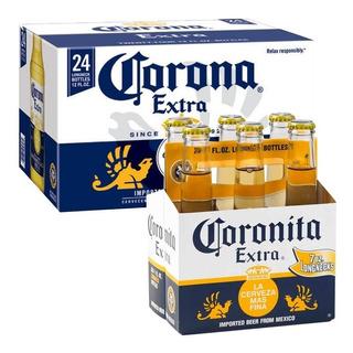 Cerveza Corona Porron 355cc Caja Pack X24 Unidades 01almacen