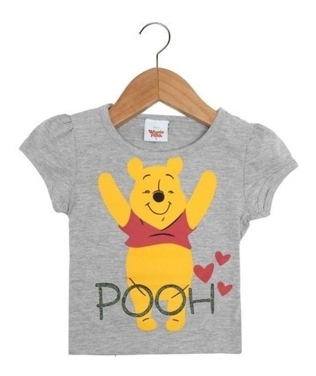 Blusa Infantil Feminina Coleção Pooh Disney