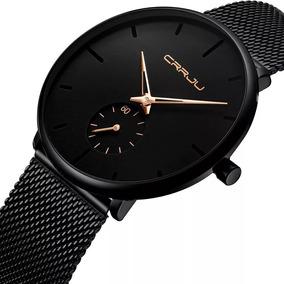 Relógio Masculino Casual Luxo Crrju Prova D