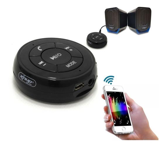 Receptor Bluetooth Som P2 Usb Microfone Atende Ligação Kpt91