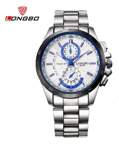 Relógio Masculino Longbo 8978, Inox À Prova D