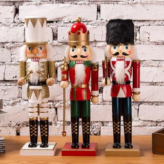 Elibeauty Cascanueces de madera de 38 cm cascanueces soldado tradicional decoraci/ón navide/ña cascanueces