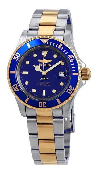 Relógio Invicta 26972 Pro Diver Quartz 40mm Prata E Azul Original Importado