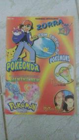 Revista Figurinha Coleçao Pokemon Ra Tim Bum Zorra #vm