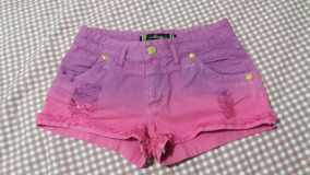 Short Jeans Colorido Destroyed Dimy Tamanho 40