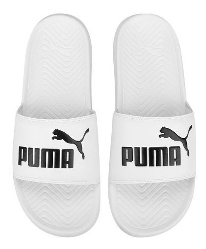 Chinelas Puma Pop Cat Unisex Blanca