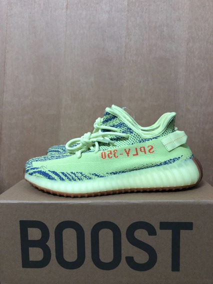 Tênis Yeezy Boost 350 V2 Semi Frozen Yellow Pronto Envio
