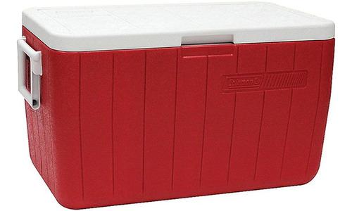 Caixa Térmica Coleman 48 Qt Tampa Articulada 45,4 L Vermelha