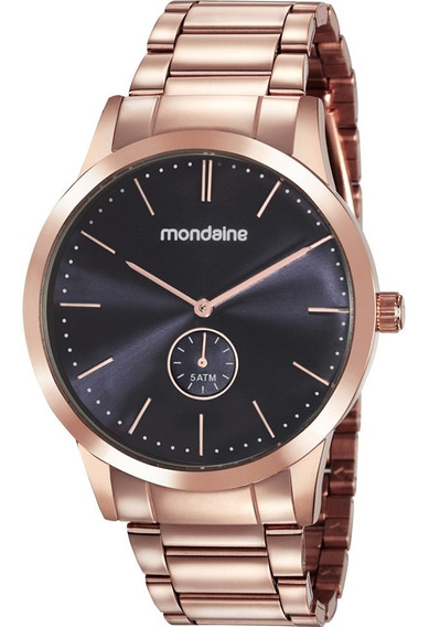 Relógio Mondaine Fem Rosê Fundo Azul, 76717lpmvre1