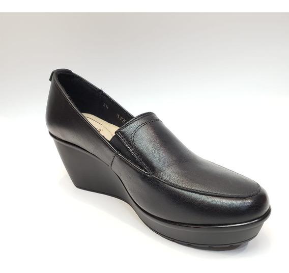 Zapato Cerrado De Vestir Formal Tacón Corrido