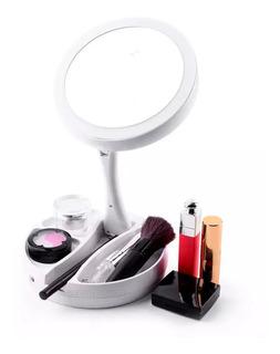 Espejo Luz Led Aumento 10x Para Maquillaje Alhajero Usb Aju