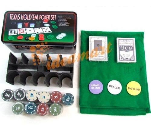 Kit Jogo Lata De Poker 200 Fichas Numeradas