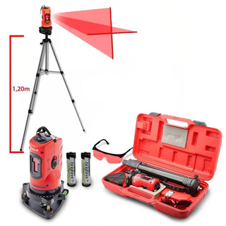 Nivel Laser 10 Metros Medidor Automatic C/ Tripé Maleta Mtx