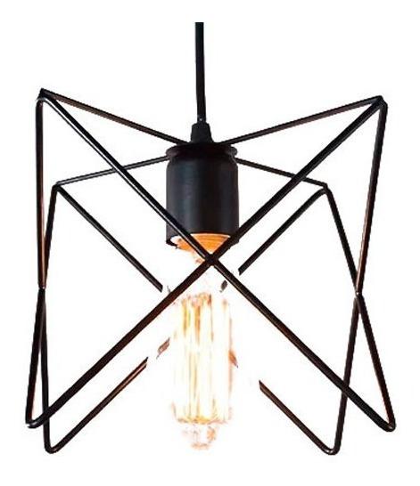 Pendente Lustre Luminária Industrial Aramado Estrela