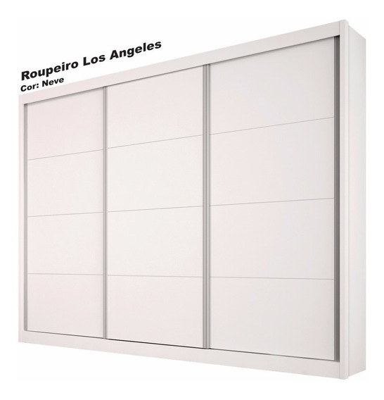 Guarda Roupa 3 Pts De Correr,100% Mdf,tcil Los Angeles, Tcil