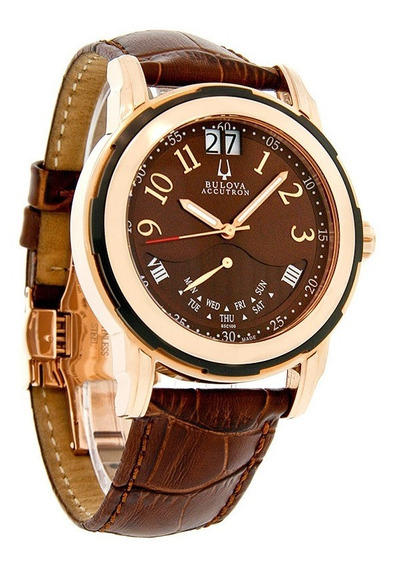 Ultimo! Bulova Accutron Ouro Rose 18k Executive 65s100