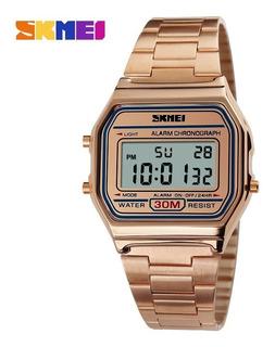 Reloj Mujer Skmei 1123 Rose Gold Vintage Impacto Online
