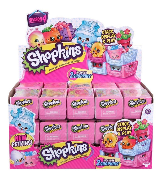 Shopkins Serie 4 Display Com 30 Cestas E 60 Shopkins 3580