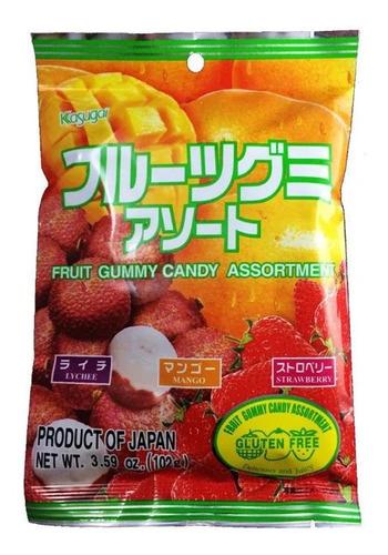 Imagen 1 de 3 de Gomitas De Sabores Kasugai Fruits Assortment Japonesas