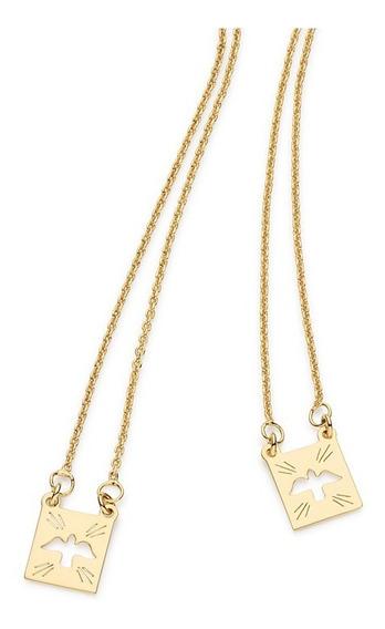 Escapulario Rommanel 68cm Folheado Ouro 531530 Religioso