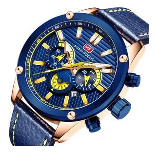 Reloj Hombre Deportivo Mini Focus 0288 Oa Cronografo Caja