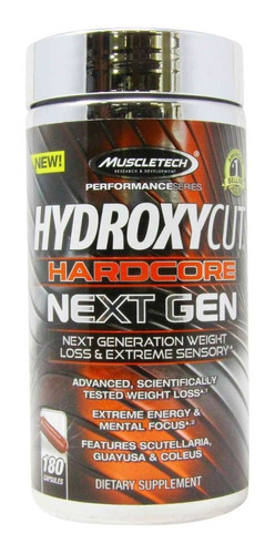 Hydroxycut Quemador De Grasa Hardcore Next Gen 180 Cápsulas