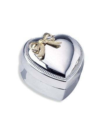 Estuche Para Joyería Corazón Metálico, Caja Para Aretes