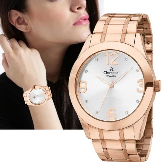 Relógio Champion Feminino Rosê Grande P/ D
