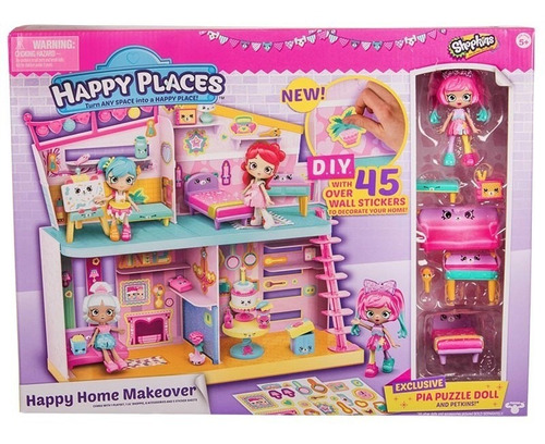 Shopkins Happy Place Casita Con Muñeca - Original