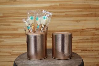 Kit Porta Pincéis + 5 Pincéis Glam The Beautiy Box Dourado