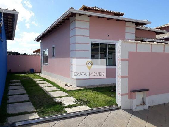 Casa Linear No Bairro Recanto/residencial Rio Das Ostras, Rio Das Ostras. - Ca0926