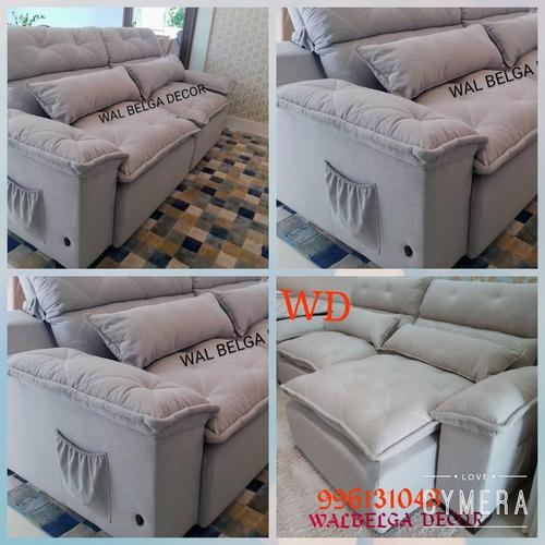Imagem 1 de 5 de Sofás Retrátil E Reclinável Assento Molas Ensacada Com Usb