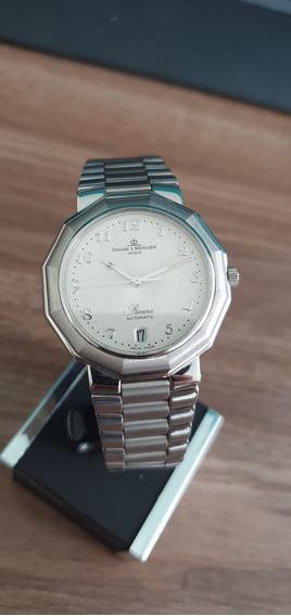 Relógio Suíço Automatico Baume Et Mercier Riviera Branco