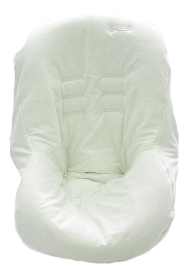 Capa De Bebê Conforto Malha Branco - Minha Casa Baby