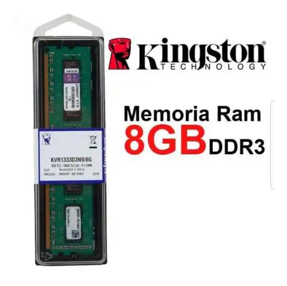 Memoria Ddr3 8gb Kingston Pc 1600mhz Pc3 12800 Nuevas
