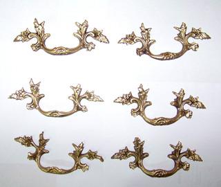 Tirador Tiradores Herrajes De Bronce Antiguos (6)