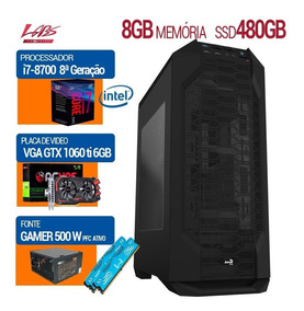 Pc Gamer I7-8700 8ª, H310m, Ssd 480gb, Gtx 1060, 8gb Ddr4