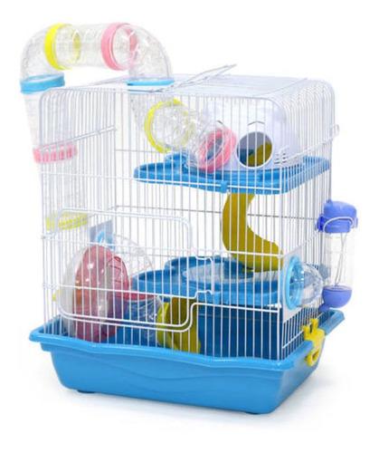 Hamstera Millex Con Tubos 2 Pisos Para Roedores