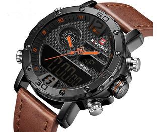 Relógio Masculino Digital Analógico Naviforce Esportivo