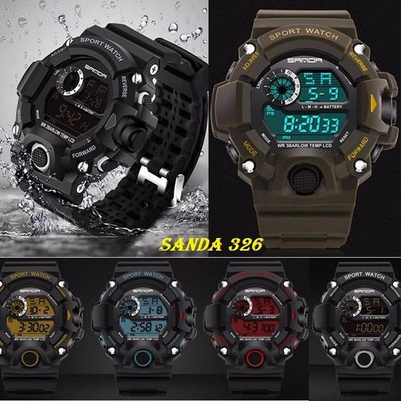 Relógio Militar Sanda S-shock 326 A Prova D`água Esportivo