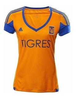 Jersey Original adidas Dama Local Tigres Nuevo Leon 15-16 Xl