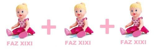 Kit Com 3 Bonecas Little Alive Baby Faz Xixi Frete Gratis
