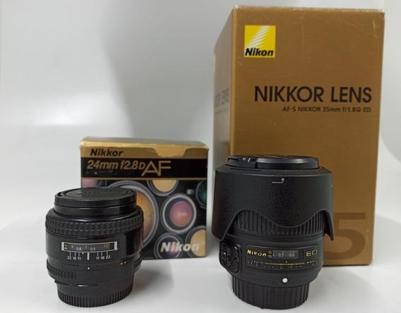 Nikon Af 24mm F/2.8d Fx E Dx E Nikon Af-s 35mm F/ 1.8g Ed